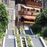 Summer Restaurant in luxury skiing Chatel village, France