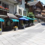 Summer Chatel Village Street in France