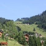 The landscape of chatel looking onto the chalet in France
