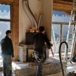 Fireplace installation - last piece of building