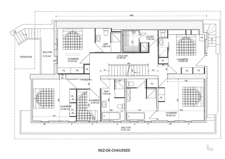 La Grange au Merle floor plans - bedroom