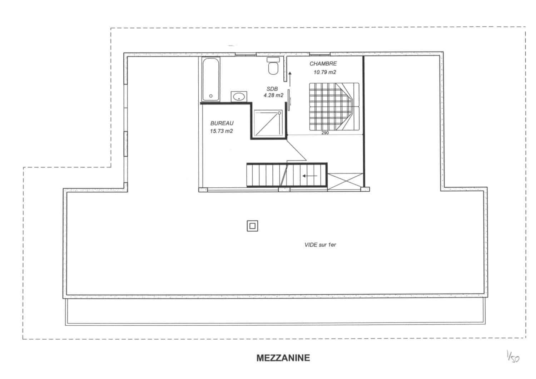 La Grange au Merle floor plans - mezzanine