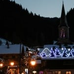 luxury family ski catered Châtel Christmas decor
