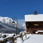 La Grange au Merle chalet in the snow