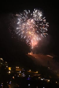 fireworks in Chatel at New Year