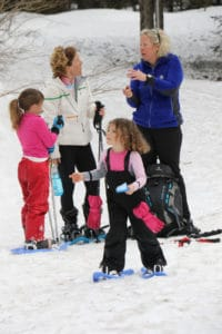 snow shoeing with the family - a great winter activity