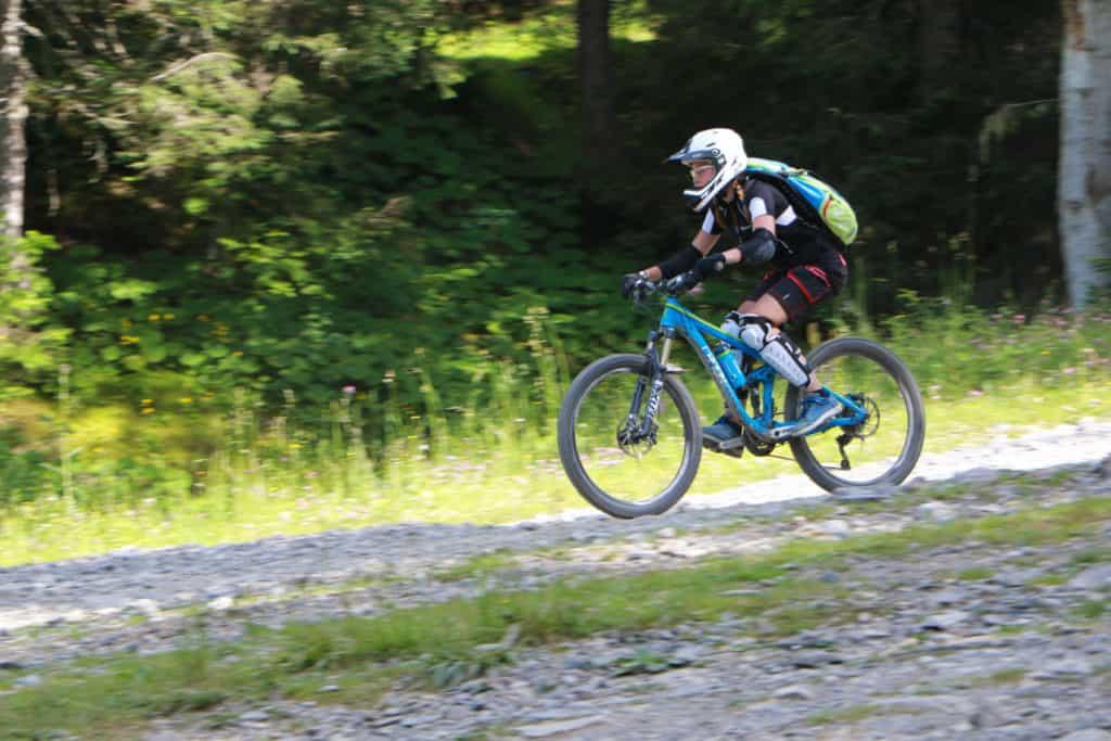 girl mountain biker