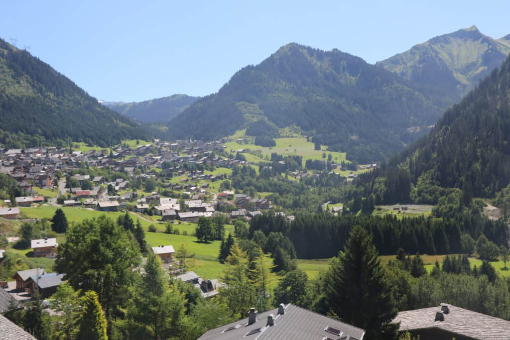 View over Chatel