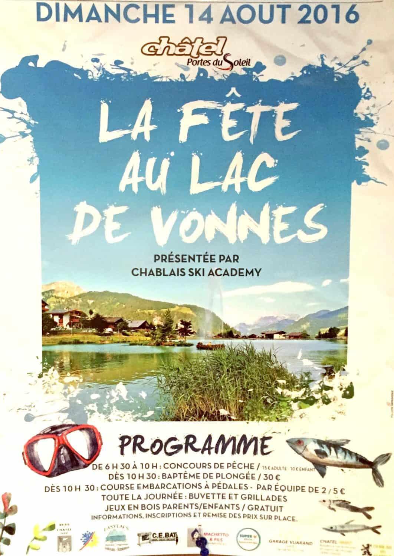 La Fete au Lac de Vonnes poster