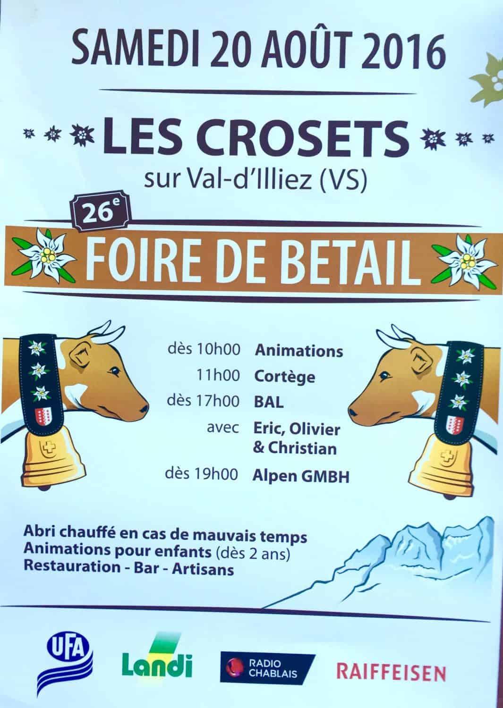 Les Crosets Foire de Betail poster