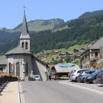 Church in Summer Chatel Village, France