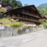 Summer Exterior of La Grange au Merle Chalet in Chatel