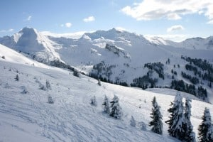 a view across the Portes du Soleil ski area