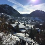 peaceful village of chatel from the view of the chalet in chatel, france