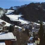 View over Super Chatel in family catered ski chalet