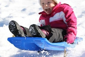 children sledging in Chatel - great fun family activities