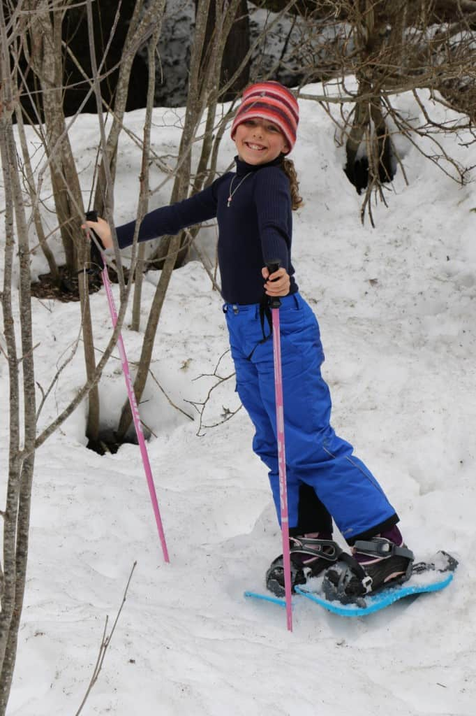 snow shoeing is a great winter activity to do if you are not skiing