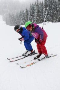 children ready to ski in the portes du soleil
