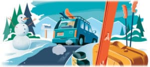 a checklist for packing for ski holidays