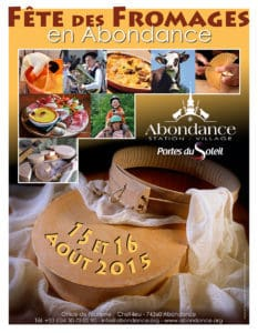A poster for the Abondance Cheese Festival