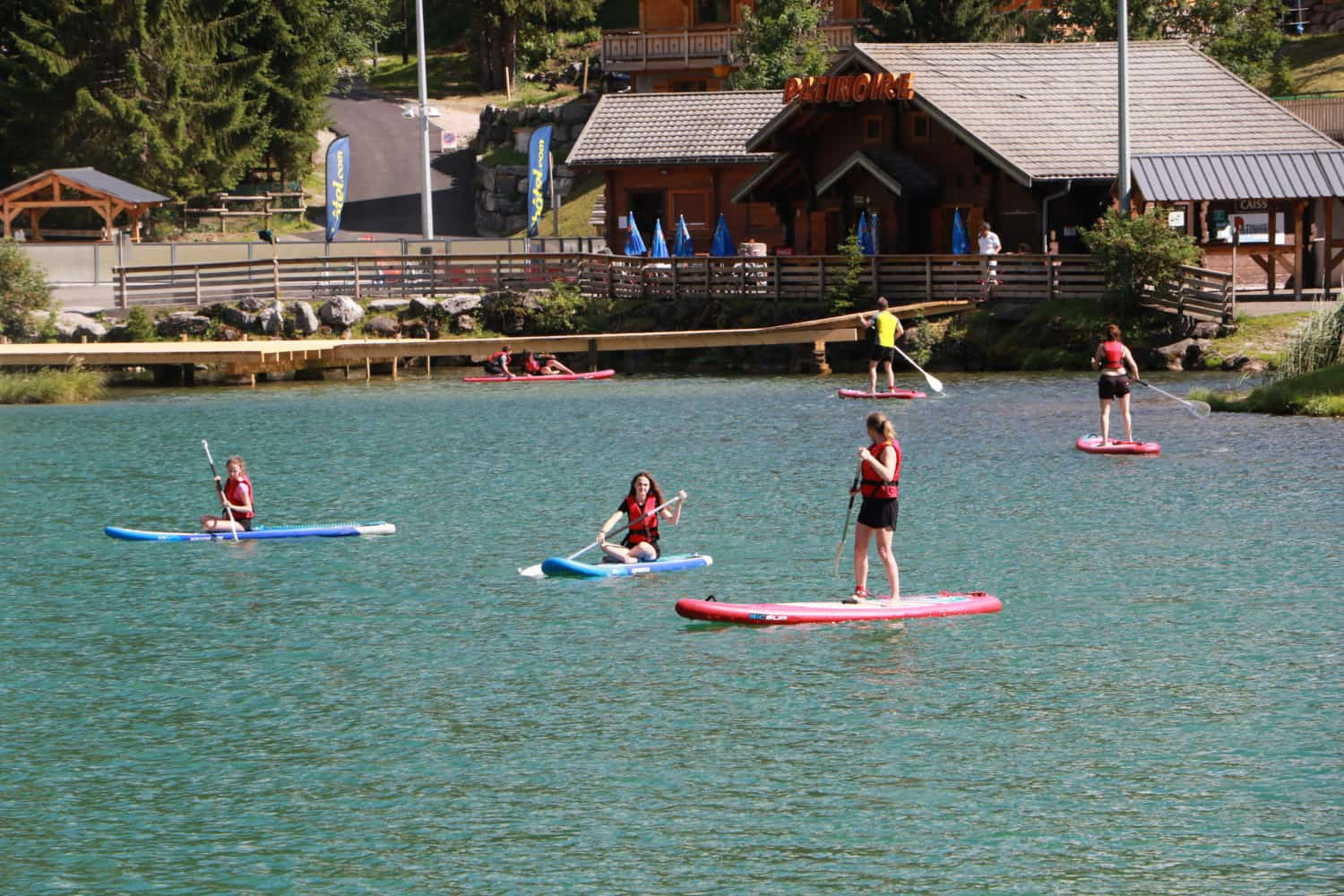 stand up paddle boarding at Lac Vonnes