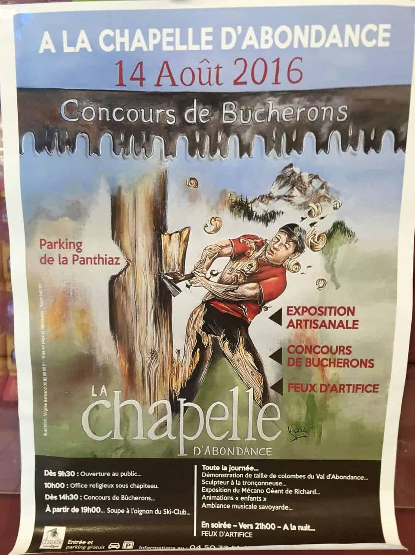 Concours de Bucherons poster