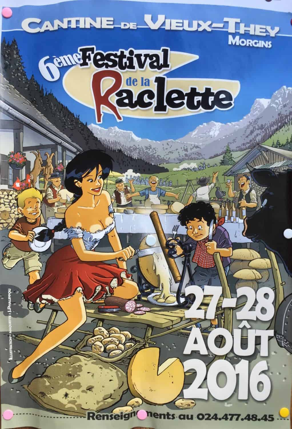 Festival de la Raclette poster-French Alps in Summer