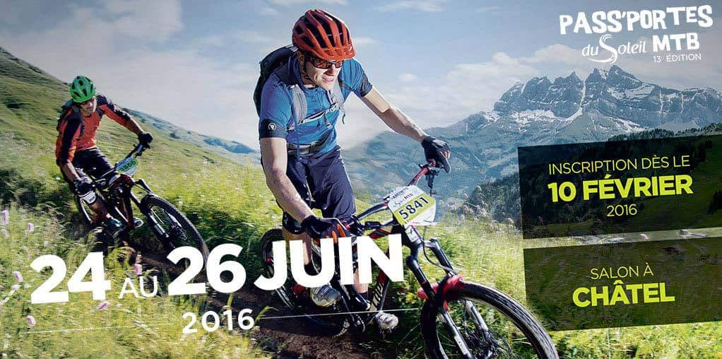 Mountain bikers head to Pass'Portes du Soleil poster