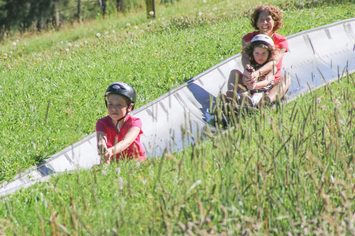 summer activities in the alps - the bob luge at Pre la Joux, Châtel