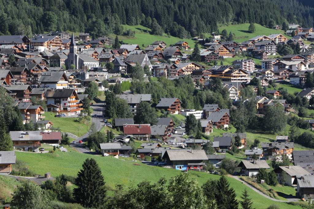 A view over Chatel from La Grange au Merle