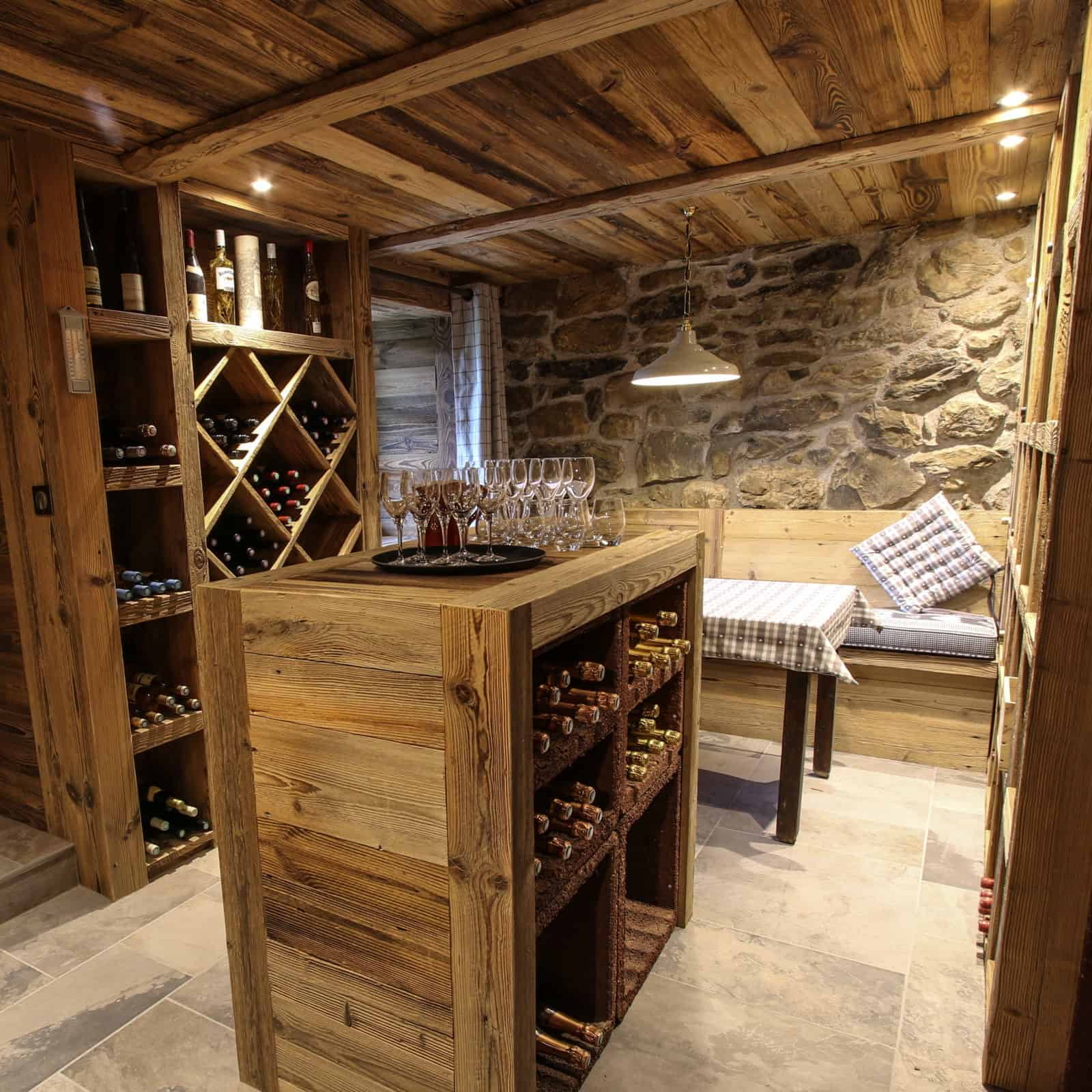 wine in the carnotzet or wine cellar