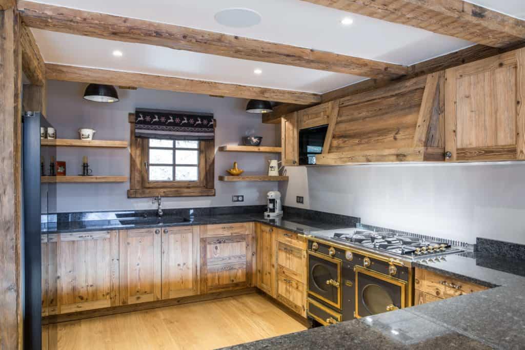 the kitchen at La Grange au Merle