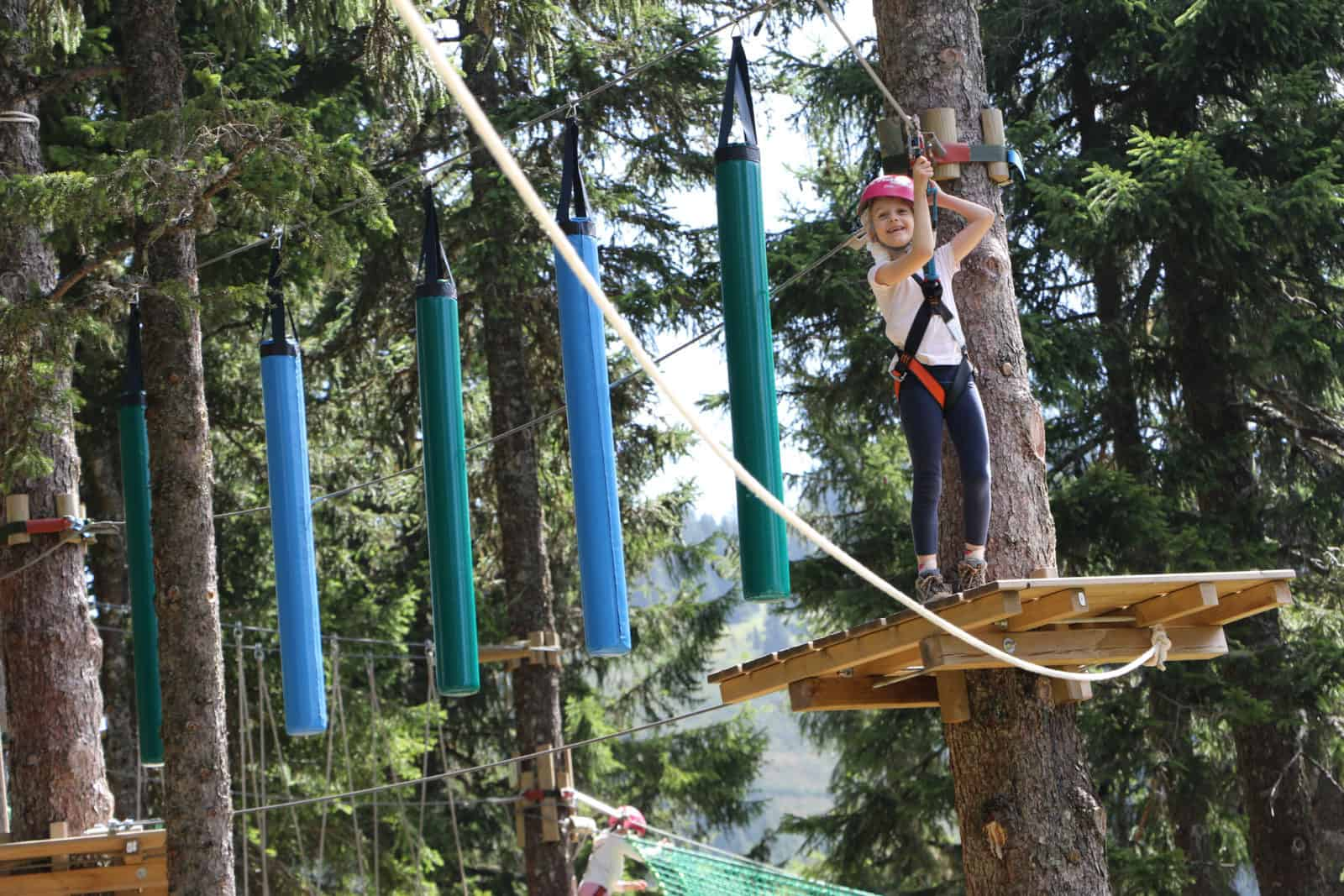 Tree rope course above Chatel