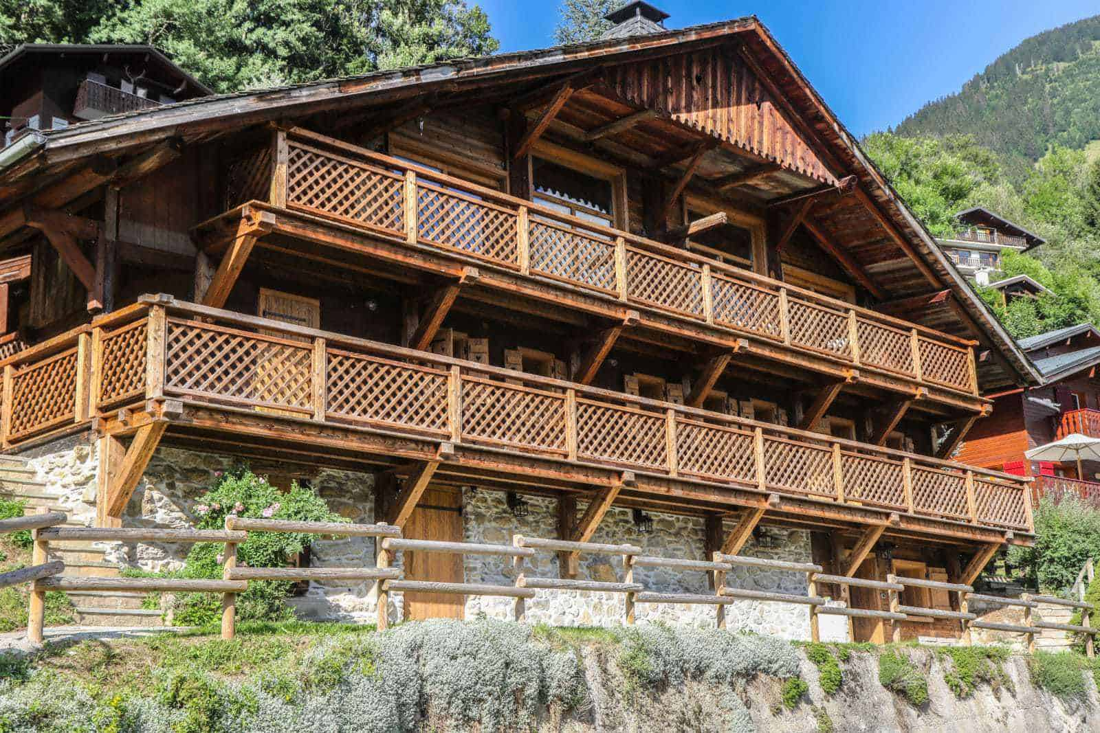 Clarian Chalets Portes du Soleil chalet in Châtel in the summer