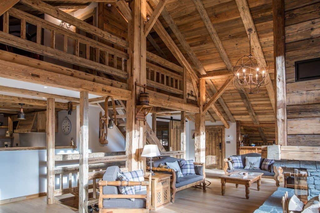 living room of La Grange au Merle