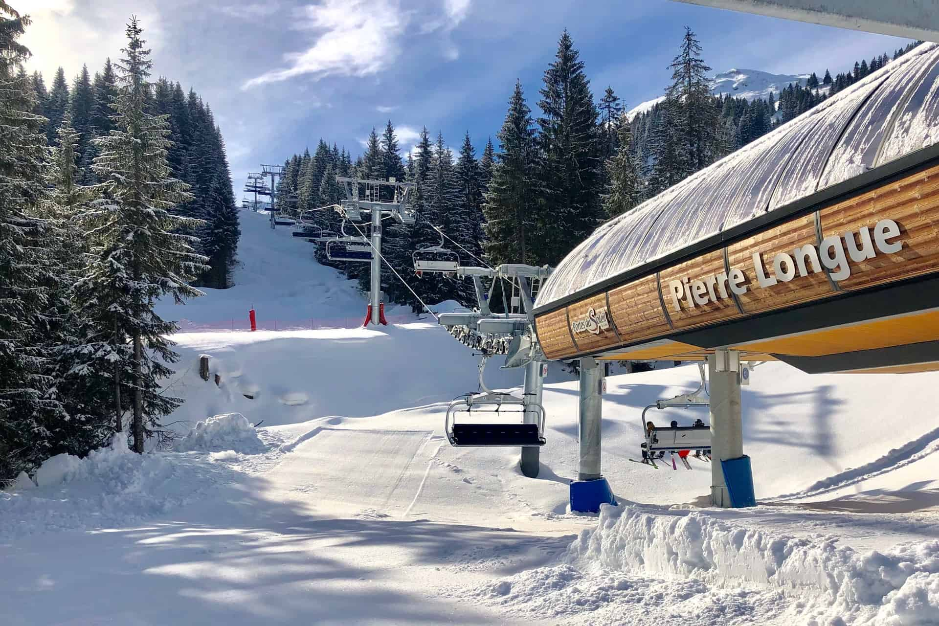 The Pre-la-Joux ski lift in Chatel
