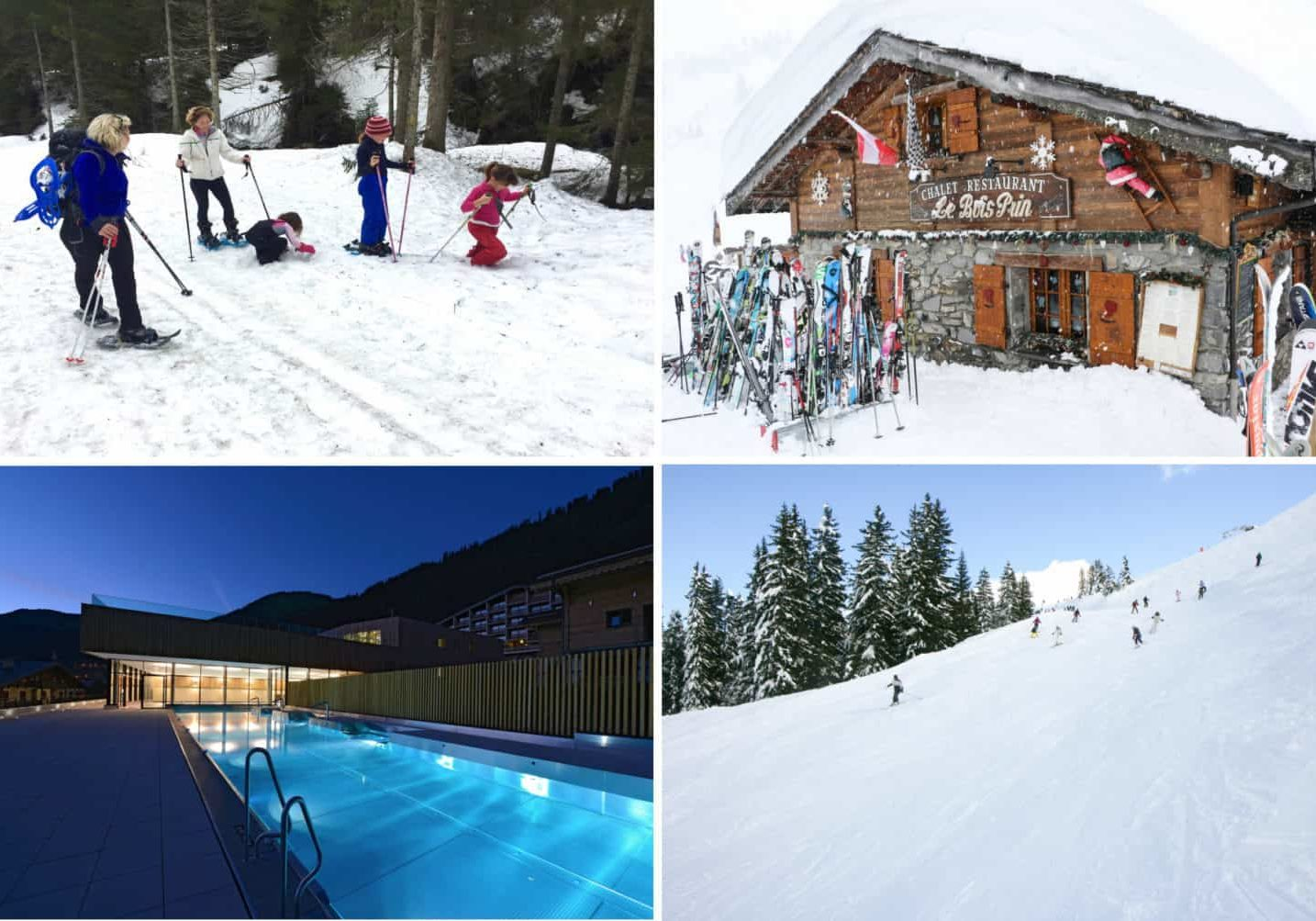 snow shoes, restaurant, swimming pool, ski slope, piste