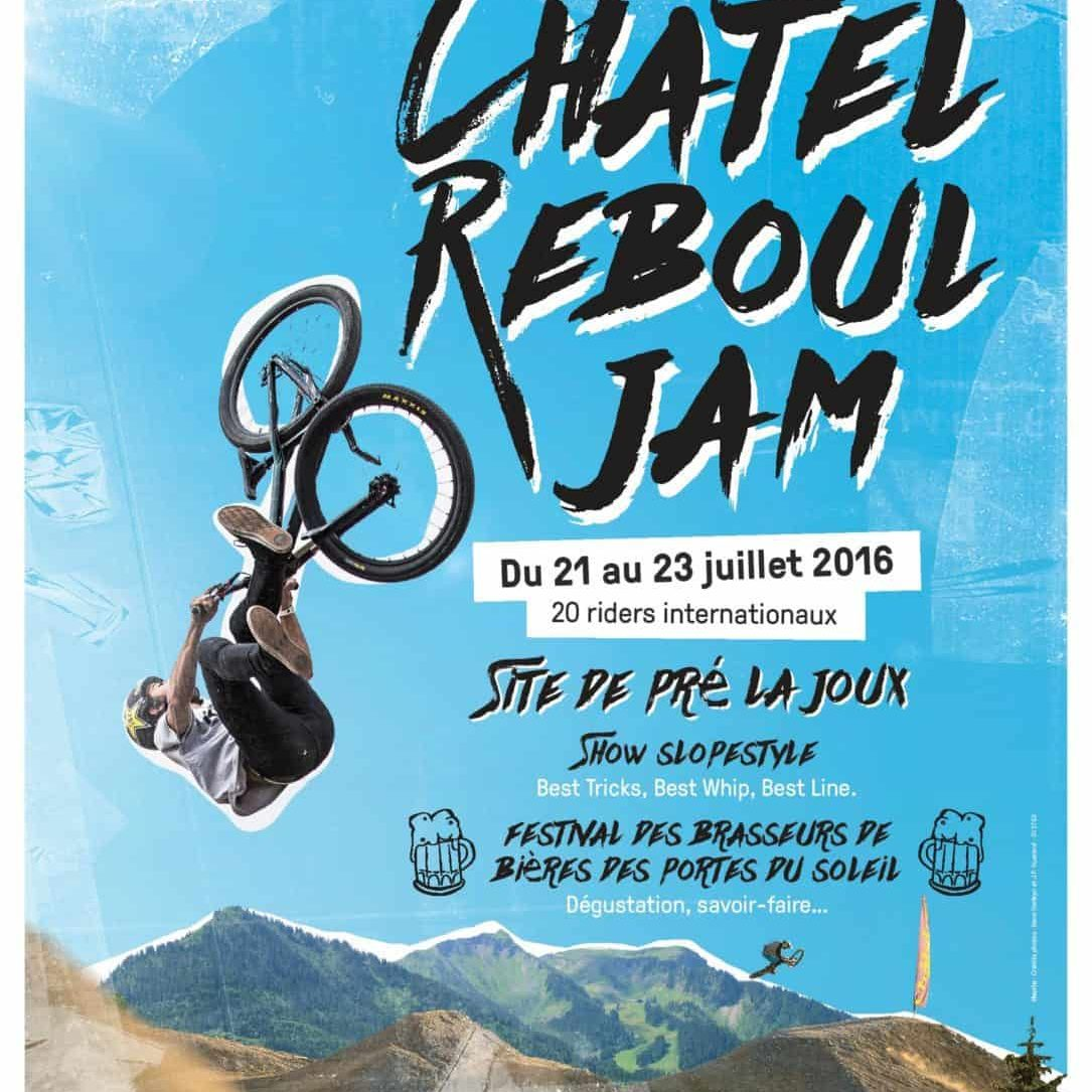 Portes du soleil mountain bikers head to the Chatel Reboul Jam poster