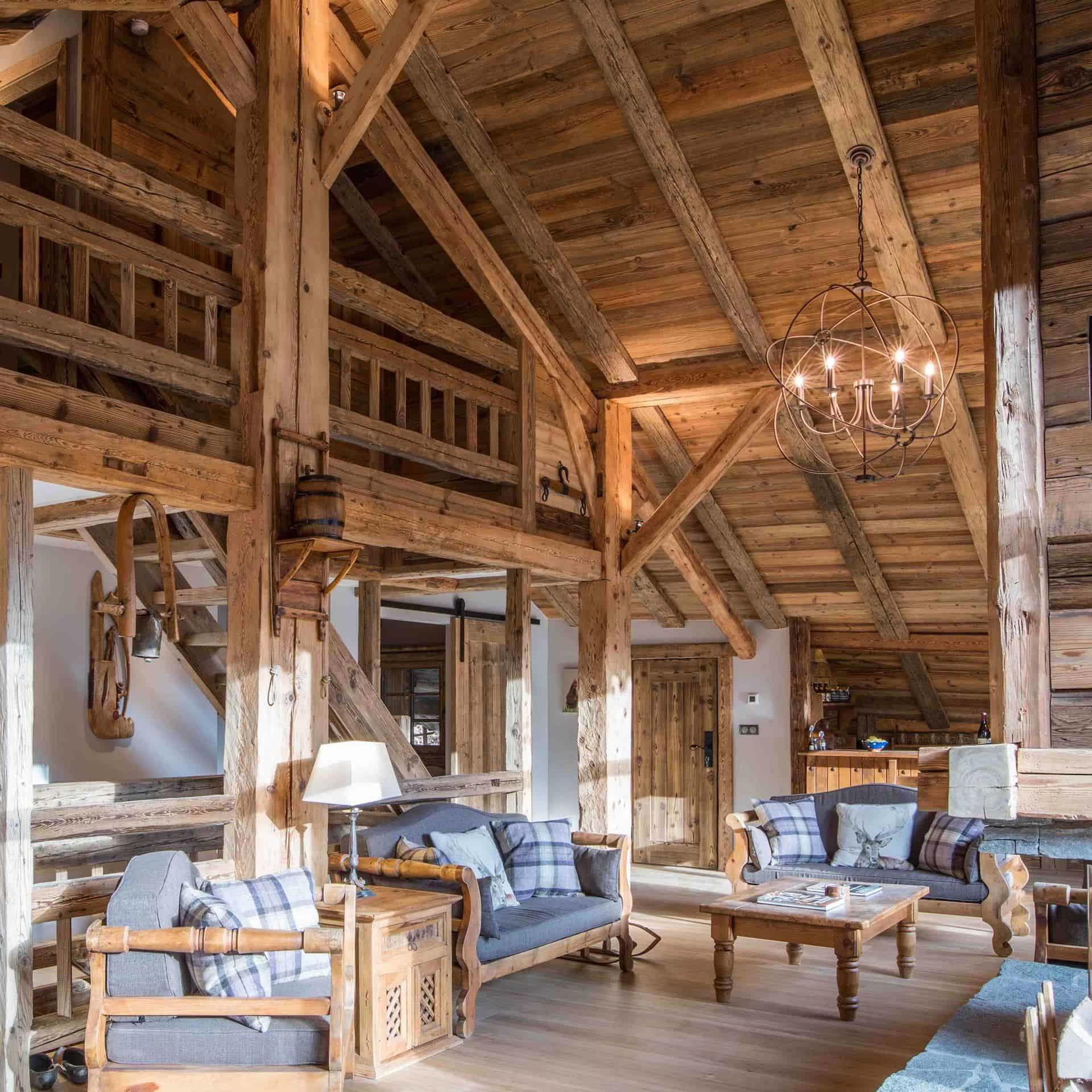 living room at Clarian Chalets luxury chalet