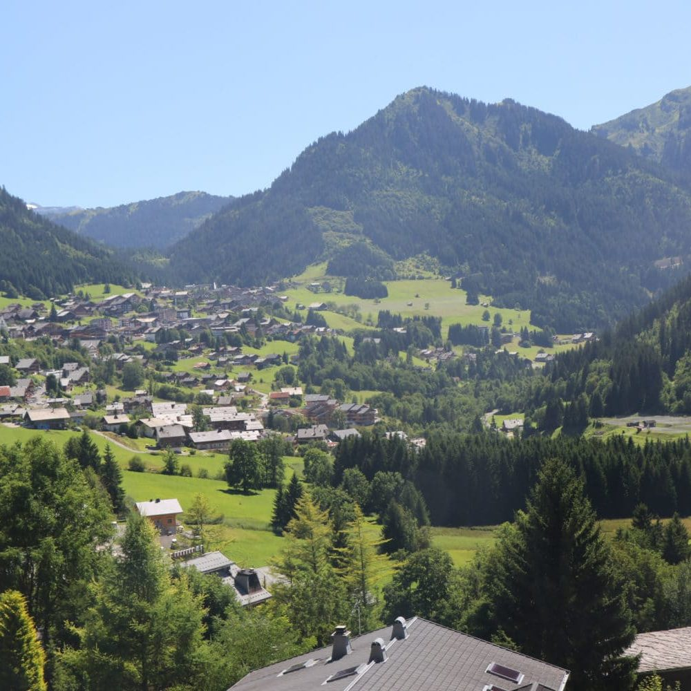 A view over Chatel in the summer sunshine